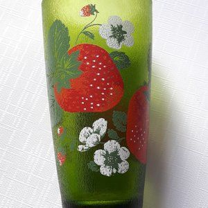 Vintage Strawberry Tumblr H.J. Stotter Cup